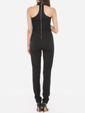 ByChicStyle Casual Plain Zips Elegant Courtly Awesome Jumpsuits