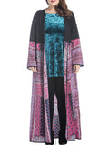 ByChicStyle Tribal Printed Loose Plus Size Duster Coat - Bychicstyle.com