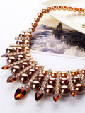 ByChicStyle Luxury Faux Pearl Crystal Necklace - Bychicstyle.com