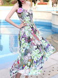 ByChicStyle Spaghetti Strap Dramatic Printed Maxi Dress - Bychicstyle.com