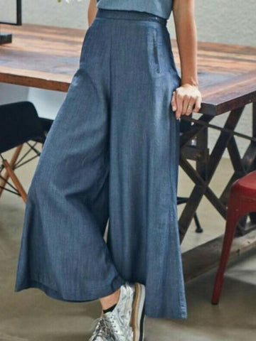 100% Cotton Wide Leg Casual Pants