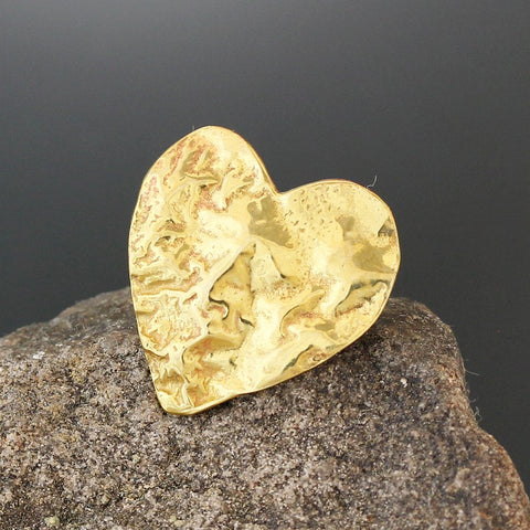 Brass Heart Scatter Pin