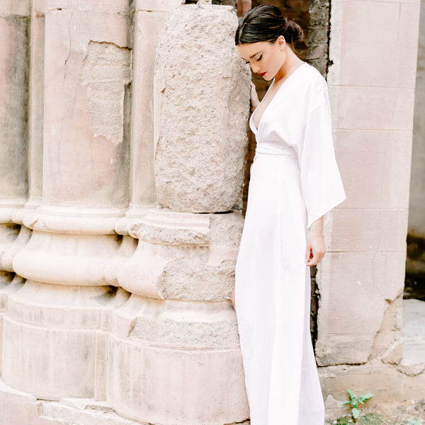 Victoria Bridal Robe Gown in Snow- {domenica_domenica], [bridal robes]