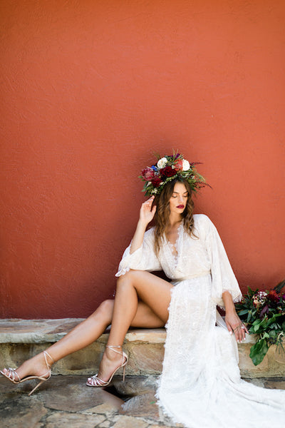 The Sophia in Off-White- {domenica_domenica], [bridal robes]