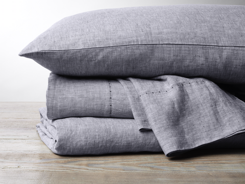 Coyuchi Organic Linen Chambray Sheet Set - more colors