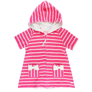 Baby Girls Candy Stripe Terry Cover-Up Girls Clothes Karina Baby Boutique