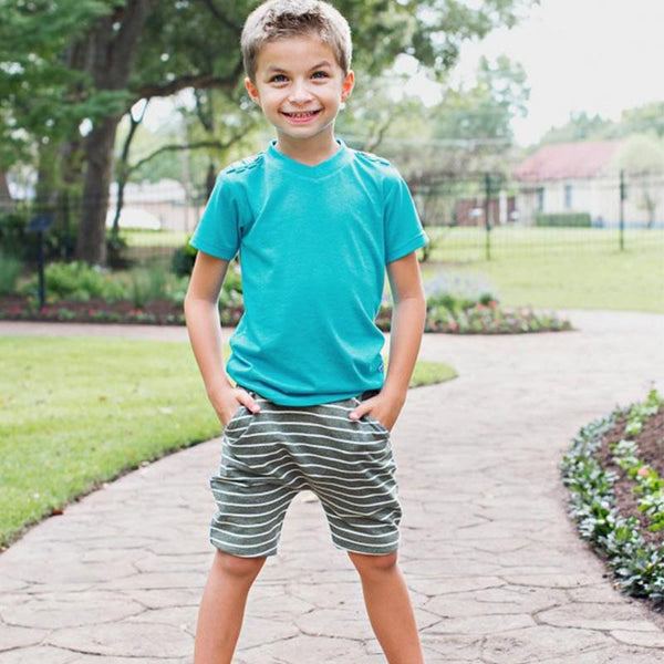 Baby/Toddler Boys Knit Pull-On Jogger Shorts with Drawstring Waistband Boys Clothes Karina Baby Boutique