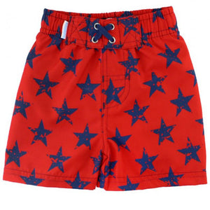 Boys Red Super Star Swim Trunks Boys Clothes Karina Baby Boutique
