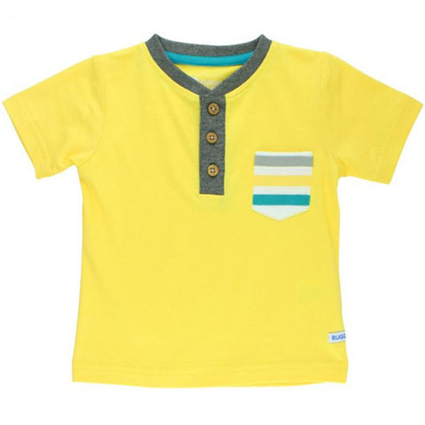 Boys Yellow Short Sleeve Knit Pocket Henley Boys Clothes Karina Baby Boutique
