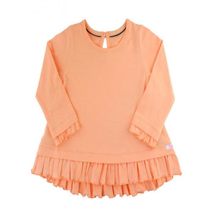 Girls Long Sleeve Apricot Ruffle Hem Top Girls Clothes Karina Baby Boutique