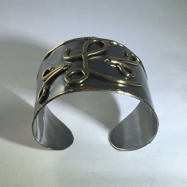Initial Hammered Cuff Itsallagift