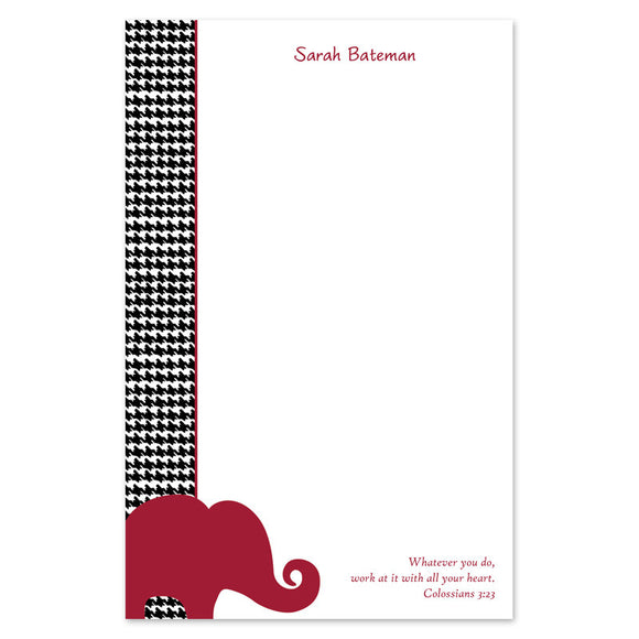 Houndstooth Elephant Notepad