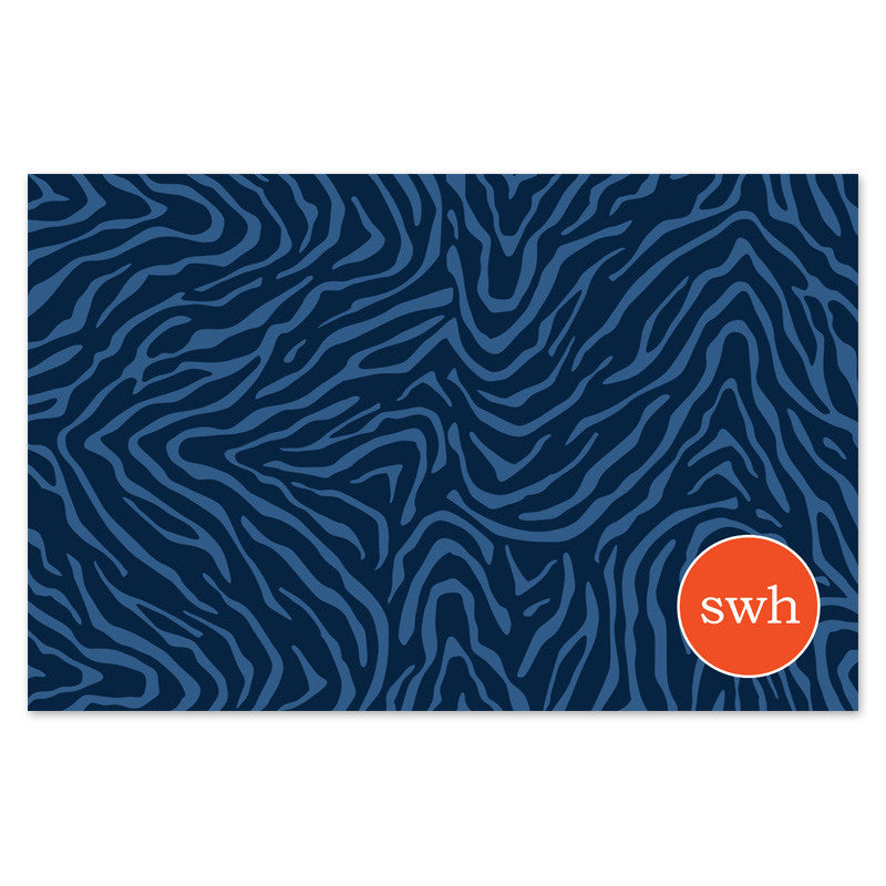 tiger stripe paper placemats