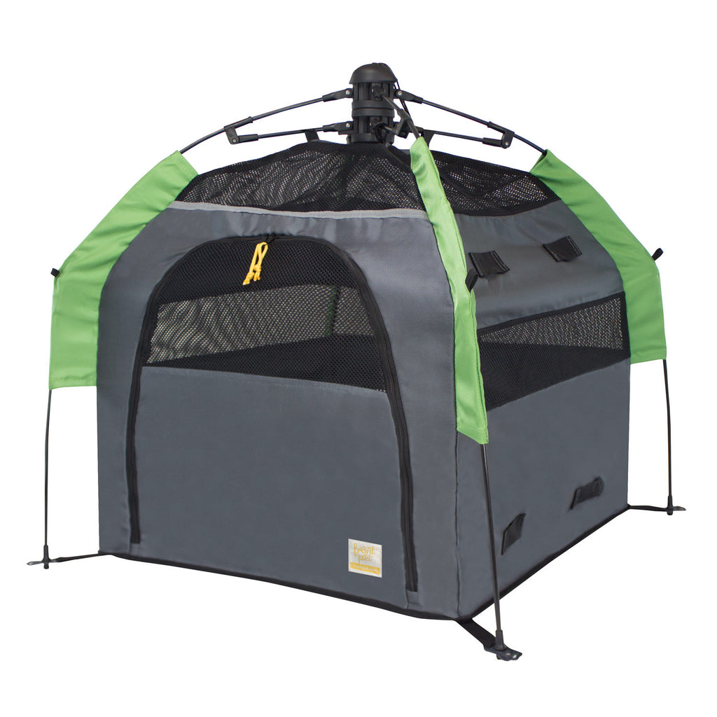 Angled view of dog tent without rainfly (large)