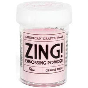 American Crafts 1Oz Zing Opaque Embossing Powder - Rose