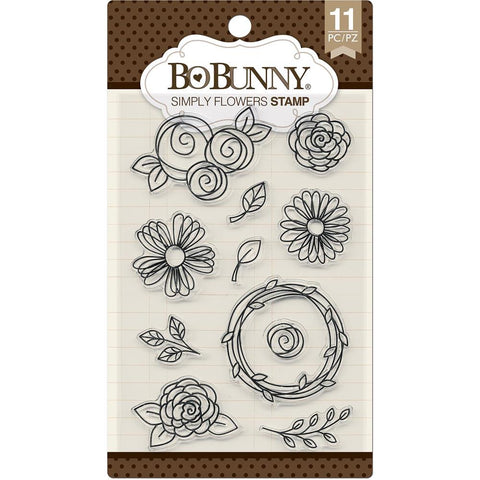 Bo Bunny Stamps Simply Flowers