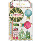 Bo Bunny Christmas Village Adhesive Layered Chipboard