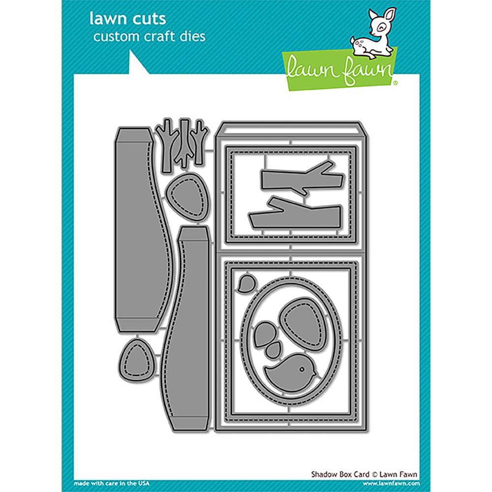 Lawn Cuts Custom Craft Die Shadow Box Card