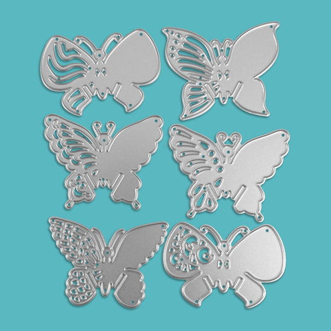 Poppy Crafts Dies - All The Butterflies Die Designs - Set of 6 Dies
