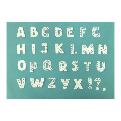 Poppy Crafts Dies - 26 Fun Letter Die Designs (26 separate dies)