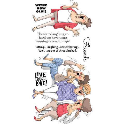 Art Impressions Clear Stamps Live Laugh Love