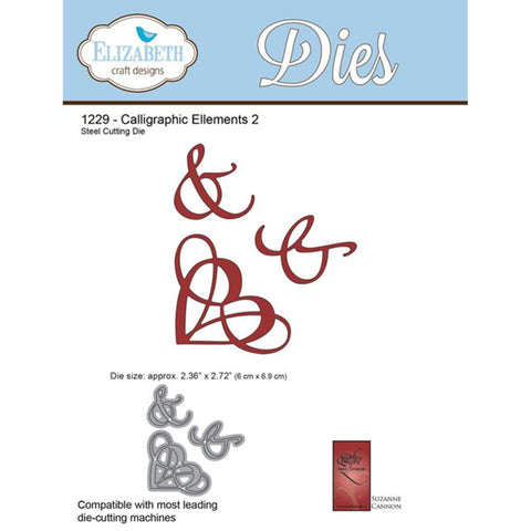 Elizabeth Craft Metal Die Calligraphic Elements 2
