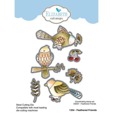 Elizabeth Craft Metal Die By Krista Designs Feathered Friends