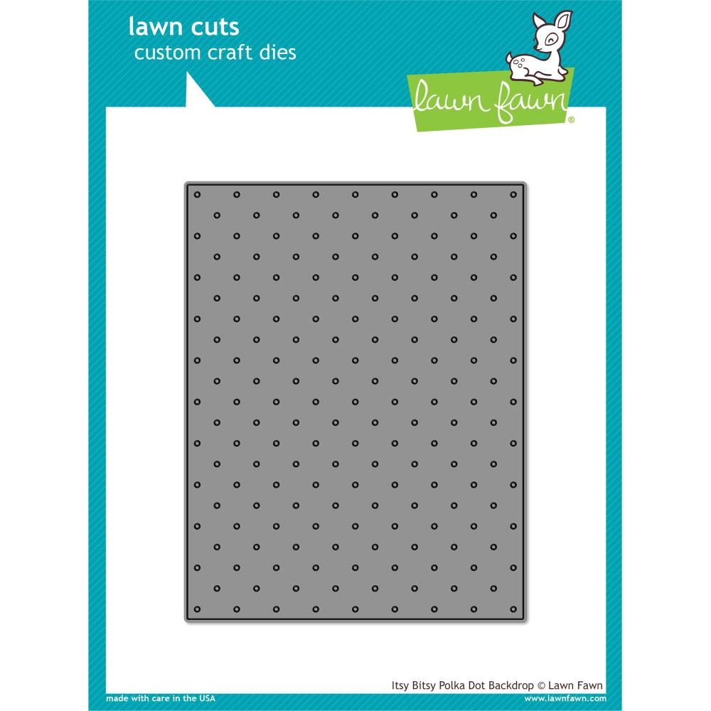 Lawn Cuts Custom Craft Die Itsy Bitsy Polka Dot Backdrop