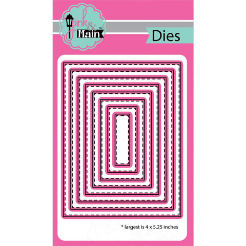 Pink & Main Dies - Stitched Rectangles