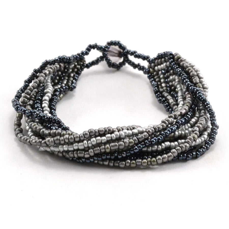 12 Strand Bracelet- Black Gray - Lucias Imports (Fair Trade)