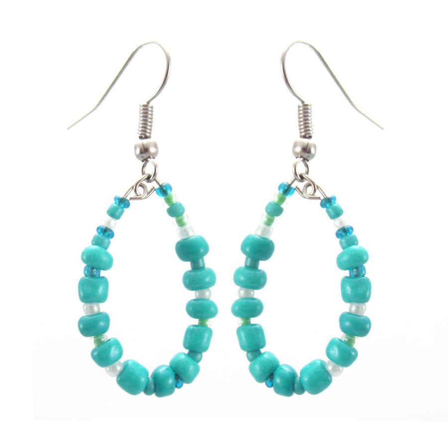 Trio of Hope Hoop Earring - Turquoise - Lucias Imports (Fair Trade)