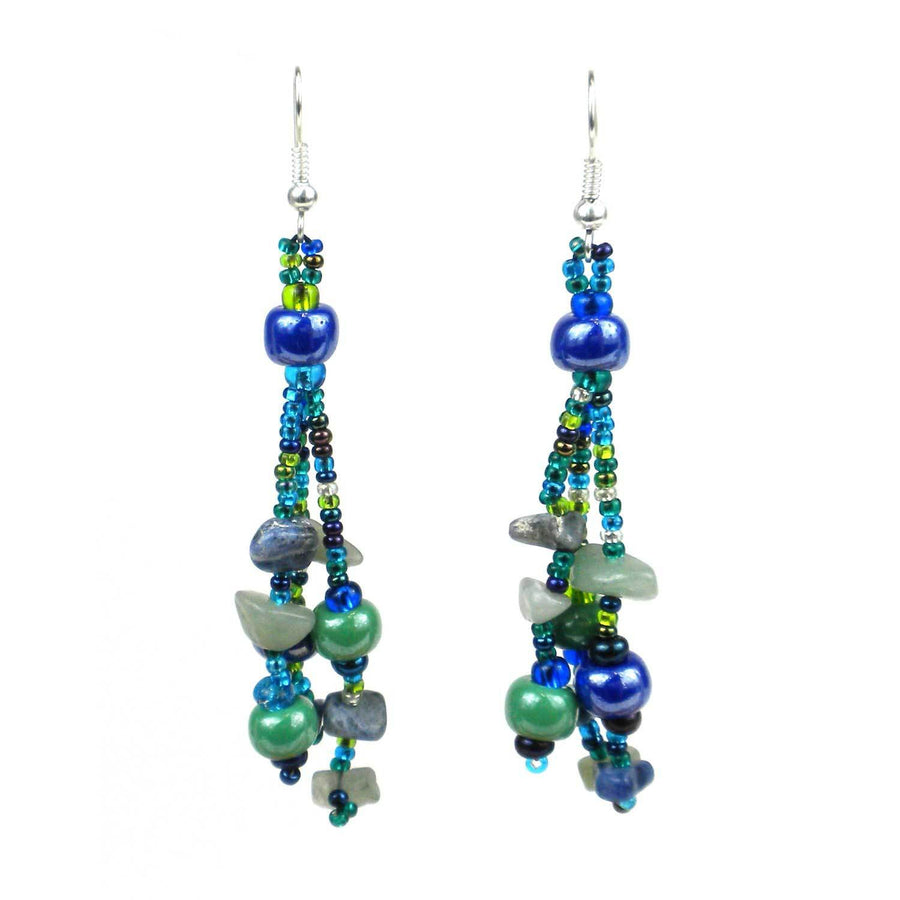 Beach Ball Earrings - Green Blue - Lucias Imports (Fair Trade)