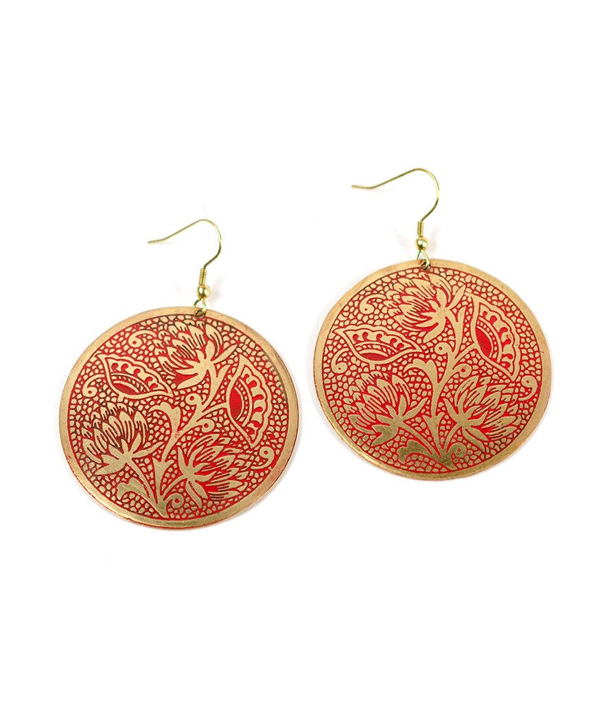 Padma Earrings - Scarlet - Matr Boomie (Fair Trade)