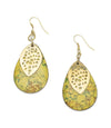 Tara Stone Medallion Earrings - Yellow - Matr Boomie (Fair Trade)