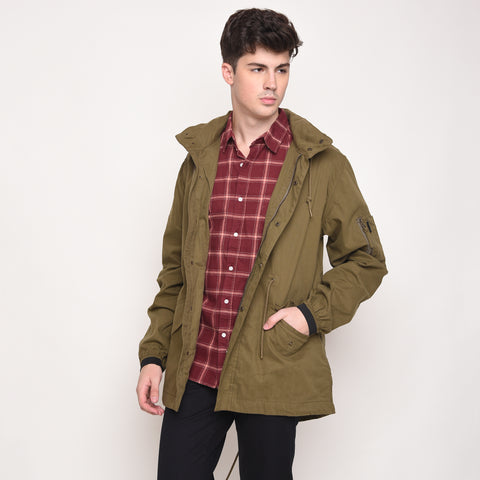 Skelly Topmod Parka in Olive Green - Skellyshop Singapore | Skelly Ltd Jackets | skellyshop.co.uk