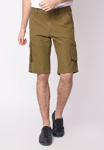 Utility Cargo Shorts in Olive - Skellyshop Singapore | Skellyshop Singapore Shorts | skellyshop.co.uk