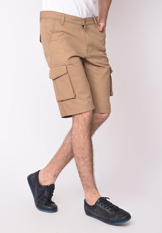 Utility Cargo Shorts in Beige - Skellyshop Singapore | Skellyshop Singapore Shorts | skellyshop.co.uk