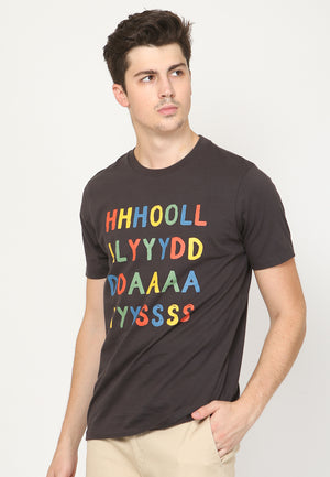 Holydays Graphic T-shirt in Jet Black - Skellyshop Singapore | Skellyshop Singapore T-Shirts | skellyshop.co.uk