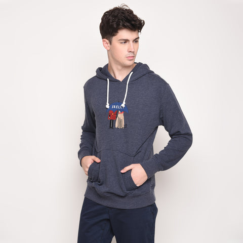 Umbrella Guard Hoodie in Navy Melange - Skellyshop Singapore | Skellyshop Singapore Sweatshirts | skellyshop.co.uk