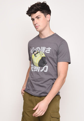 Tuby Police Graphic T-Shirt in Grey - Skellyshop Singapore | Skelly Original T-Shirts | skellyshop.co.uk