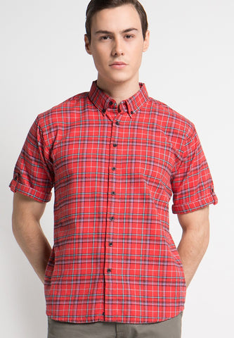 Crosby Shirt SS Flannel Shirts Relaxed Fit - Skellyshop Singapore | Skelly Collective Shirts | skellyshop.co.uk