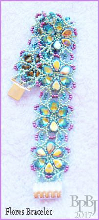 Bead Tutorial - Flores Bracelet - Netting Stitch
