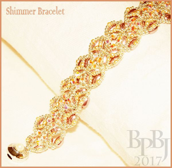 Bead Tutorial - Shimmer Bracelet - Embellished Right Angle Weave