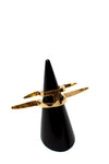 CC Skye - BOLTS WING RING GOLD SIZE 6
