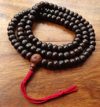 Antique Style Nepalese Bodhiseed Mala - 8 mm