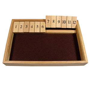 SHUT THE BOX 12 NUMBERS