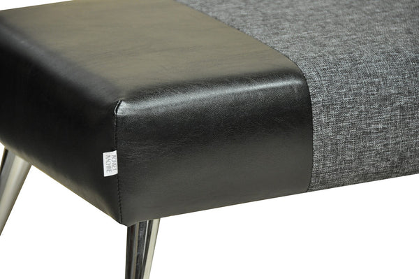 Bench HYBRID / Black leather/Graphite EN