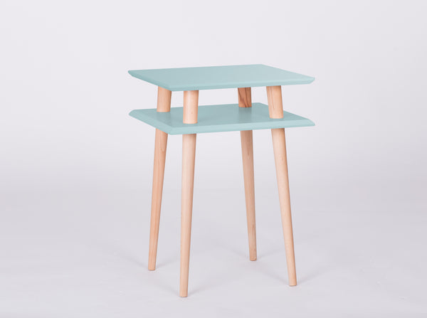 Cabinet SQUARE high 43 cm bright turquoise