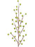 "Metallic Berry Branch Spray - 19"" Tall - Box of 24 - Green"