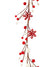 Snowflake & Berry Garland - 5' Long - Box of 6 - White & Red
